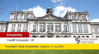Cardiff University International Foundation Programme Scholarships in UK, 2019