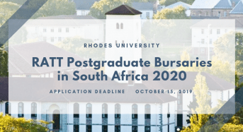 Rhodes University RATT Postgraduate Bursaries in South Africa 2020