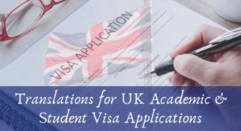 Translations for UK Academic & Student Visa Applications