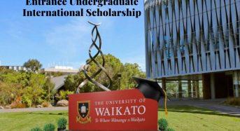 Entrance Undergraduate International Scholarship at University of Waikato in New Zealand, 2020