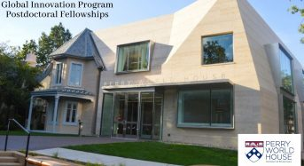 Perry World House Global Innovation Program Postdoctoral Fellowships in USA, 2020