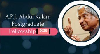 President A.P.J. Abdul Kalam Postgraduate Fellowship for Indian Students at University of South Florida, 2020