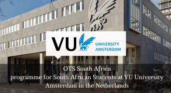 OTS South Africa Programme for South African Students at VU University Amsterdam in the Netherlands