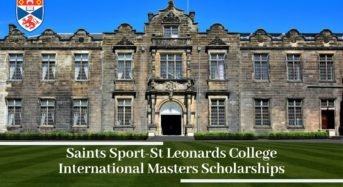 Saints Sport-StLeonards College International masters programmes at University of St Andrews, 2020