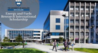 Energy and Fuels Research International Scholarship at University of Auckland, 2020
