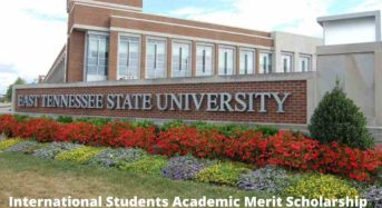 International Students Academic Merit Scholarship at East Tennessee State University, USA