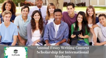 Ivy Panda Annual Essay Writing Contest funding for International Students, 2020
