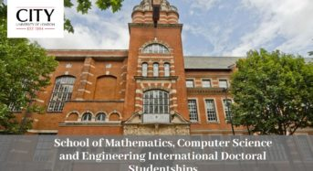 School of Mathematics, Computer Science and Engineering International Doctoral Studentships in UK