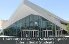 UniSA University President's Scholarships (UPS) for International Students in Australia, 2020